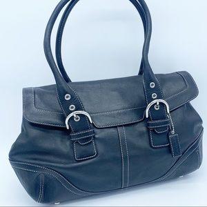 Coach Vintage Black Leather Shoulder Bag tote